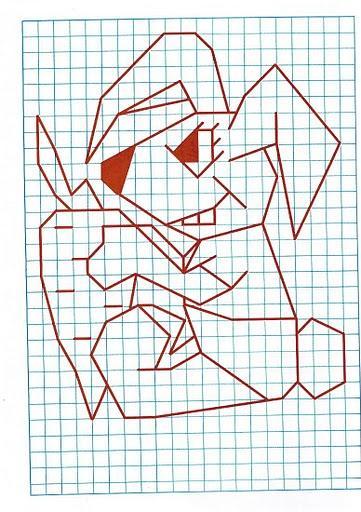 Рисунки карандашом объемные по клеточкам 146